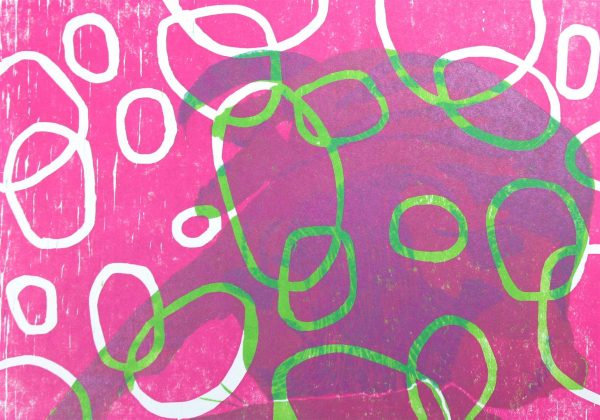 Pink Grün Print