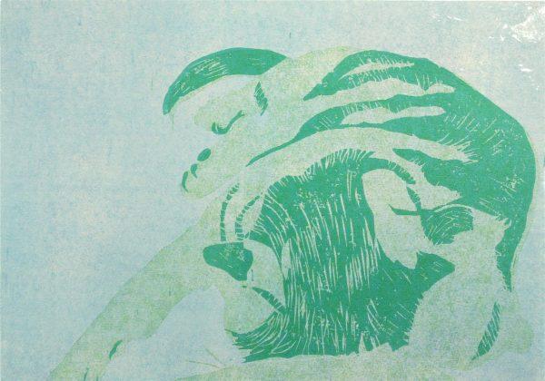 Print Katze kuschelt